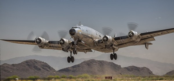 Columbine II takes off from Marana, Ariz., in March. (Photo: Ramon Purcell)
